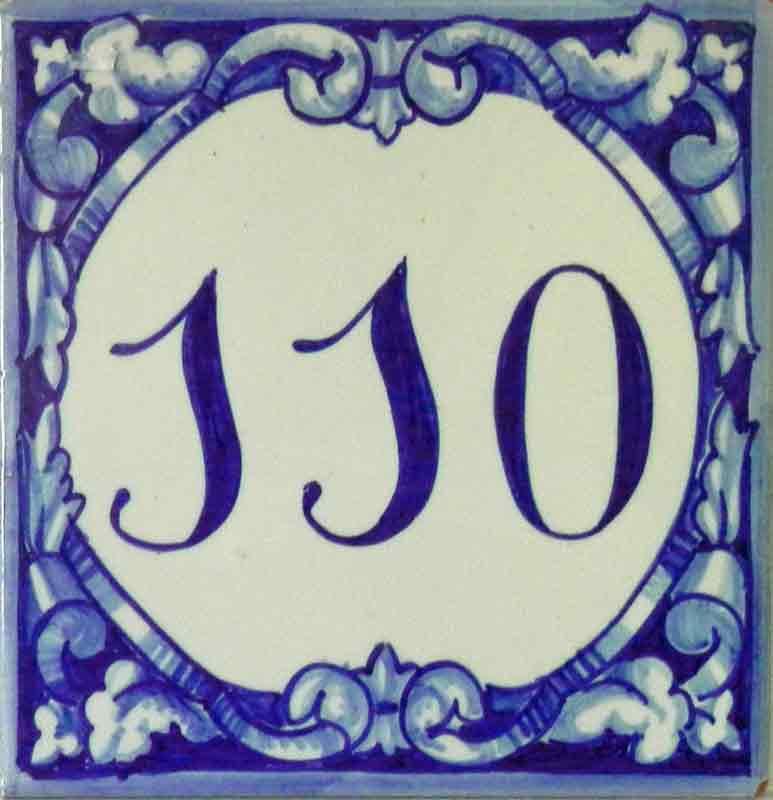 Azulejos sevillanos artesanos pintados a mano - Cerámicas Artesur - Número 110