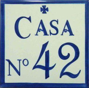 Azulejos sevillanos artesanos pintados a mano - Cerámicas Artesur - Número 42