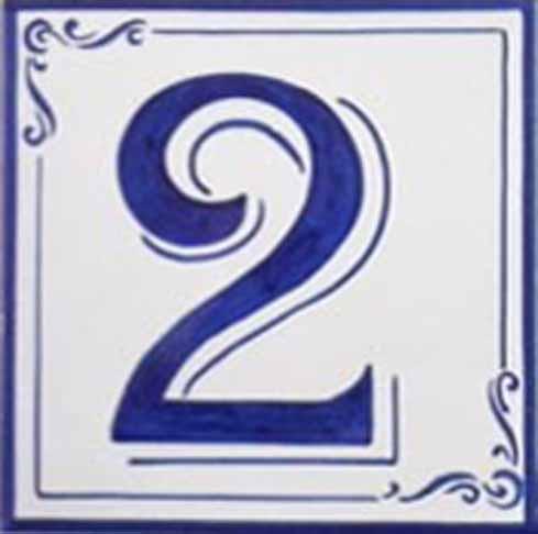 Azulejos sevillanos artesanos pintados a mano - Cerámicas Artesur - Número 2