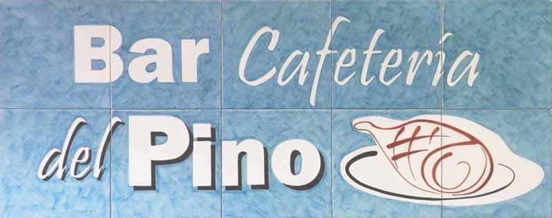 Rótulo azulejos para cafetería