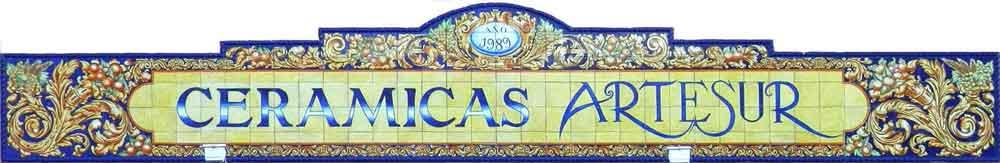 Rótulo azulejos Cerámicas Artesur