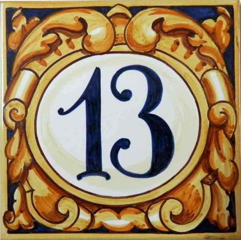 Azulejos sevillanos artesanos pintados a mano - Cerámicas Artesur - Comerciales - Número 13