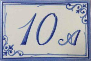 Azulejos sevillanos artesanos pintados a mano - Cerámicas Artesur - Comerciales - Número 10