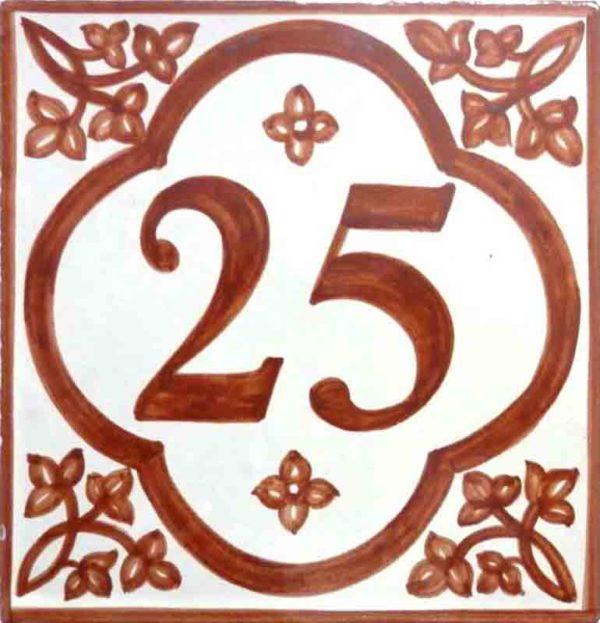 Azulejos sevillanos artesanos pintados a mano - Cerámicas Artesur - Comerciales - Número 25