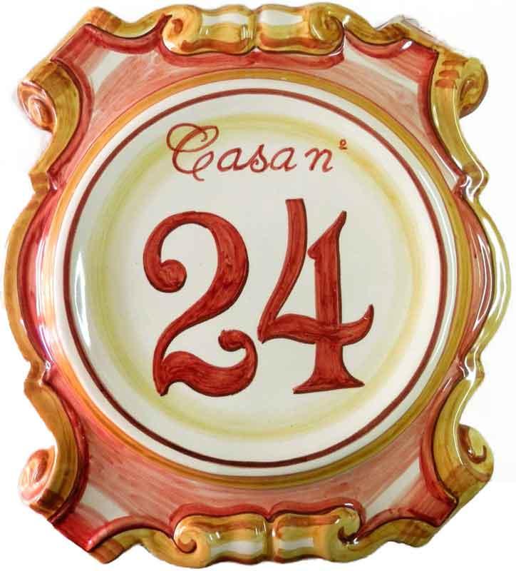 Número de casa en relieve de cerámica - Cerámicas Artesur - 027