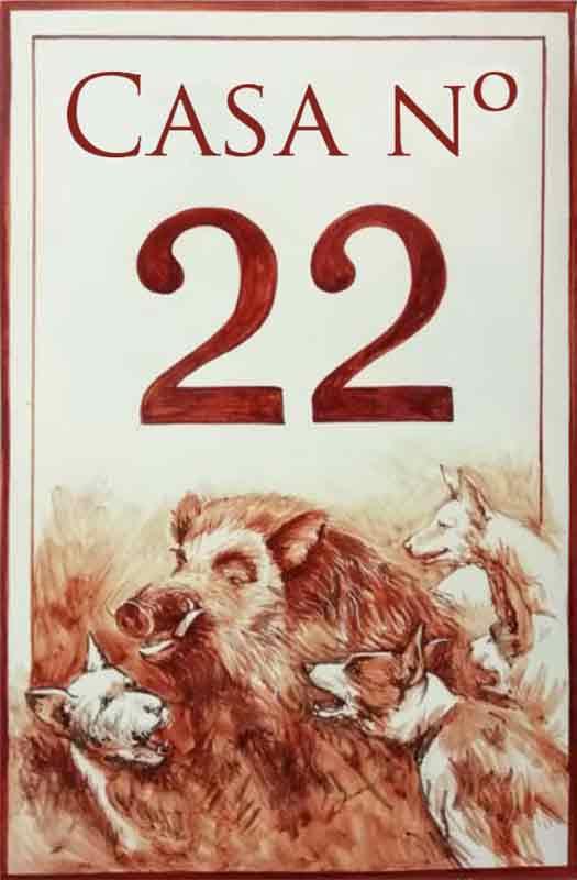 Azulejos sevillanos artesanos pintados a mano - Cerámicas Artesur - Número 22