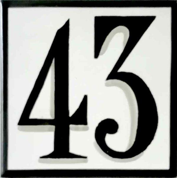 Azulejos sevillanos artesanos pintados a mano - Cerámicas Artesur - Número 43