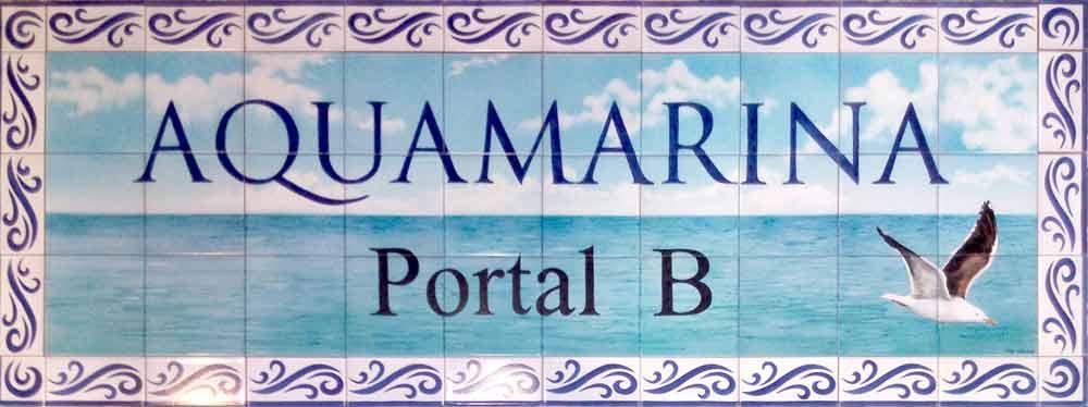 Rótulo para portal de edificio