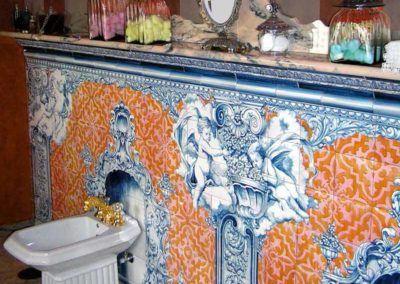 Zócalo de azulejos barroco para baño