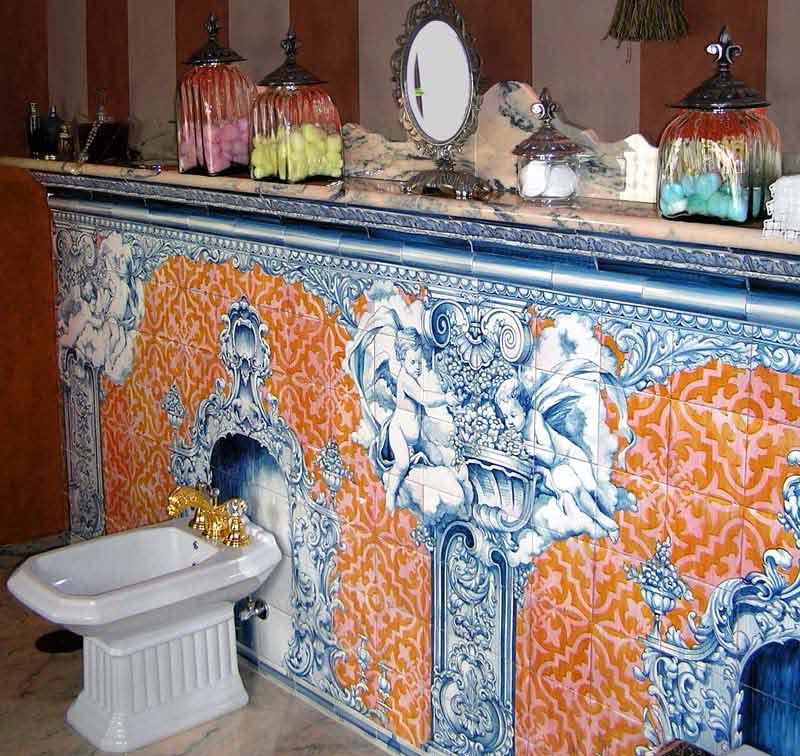 Azulejos sevillanos artesanos pintados a mano - Cerámicas Artesur - Baño - 1