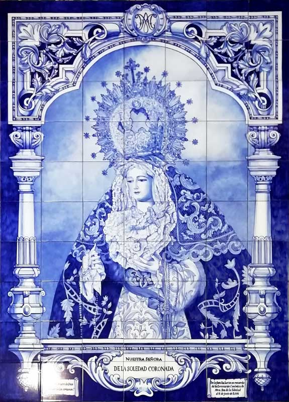 Azulejos sevillanos artesanos pintados a mano - Cerámicas Artesur - Virgen - 1-2