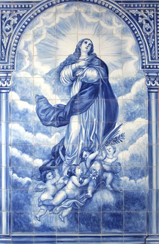Azulejos sevillanos artesanos pintados a mano - Cerámicas Artesur - Virgen - 3