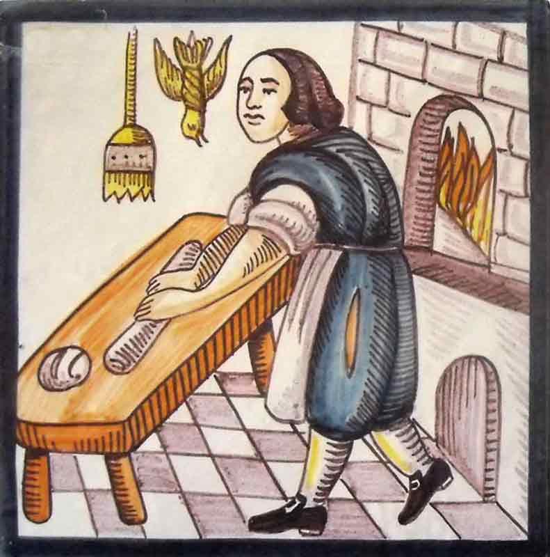 Azulejos sevillanos artesanos pintados a mano - Cerámicas Artesur - Reproducciones antiguas - 1