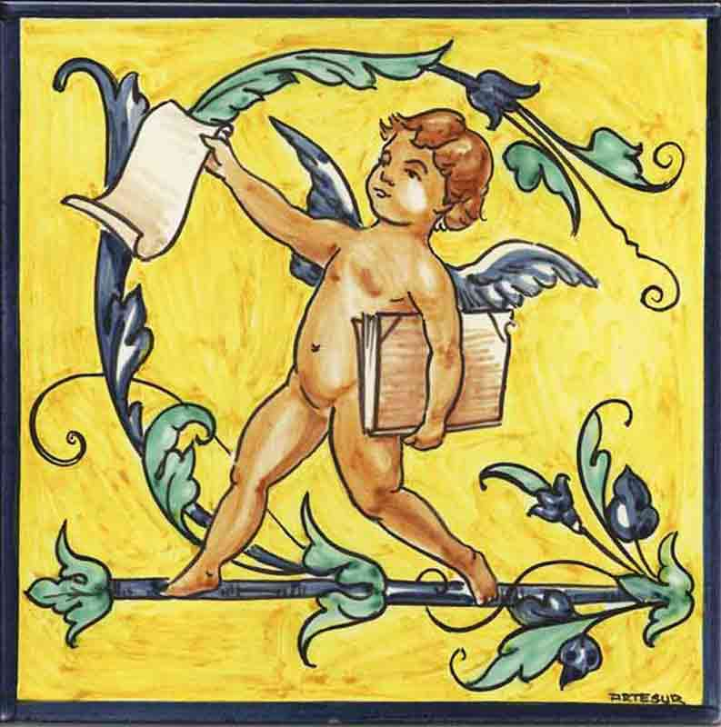 Azulejos sevillanos artesanos pintados a mano - Cerámicas Artesur - Reproducciones antiguas - 3