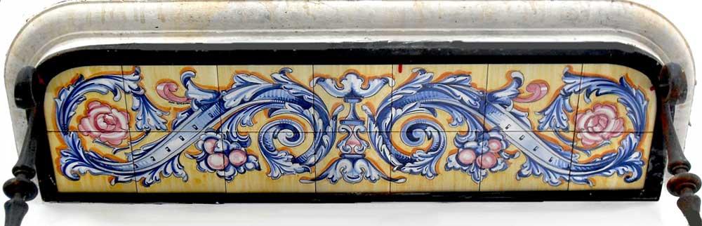 Azulejos sevillanos artesanos pintados a mano - Cerámicas Artesur - Balcón-1