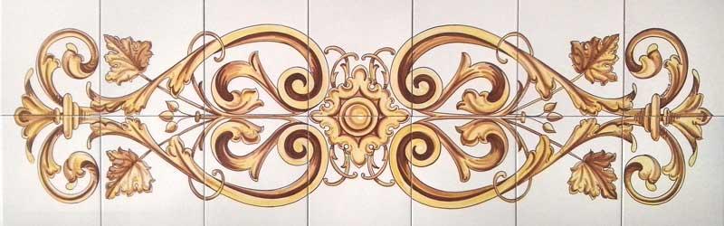 Azulejos sevillanos artesanos pintados a mano - Cerámicas Artesur - Balcón-3