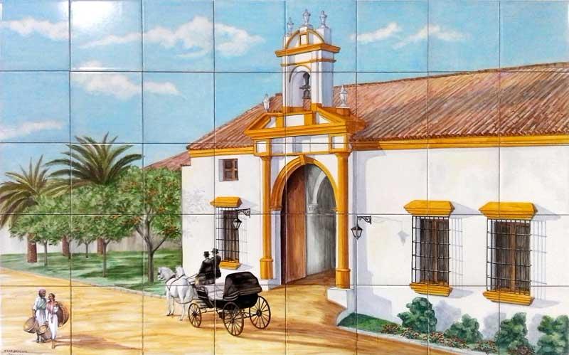 Azulejos sevillanos artesanos pintados a mano - Cerámicas Artesur - Paisajes - 1