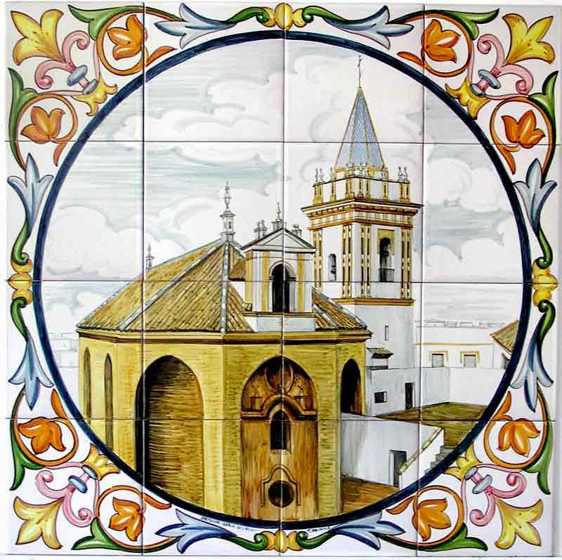 Azulejos sevillanos artesanos pintados a mano - Cerámicas Artesur - Paisajes - 7
