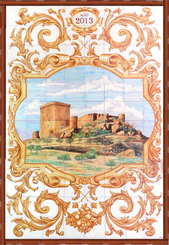 Azulejos sevillanos artesanos pintados a mano - Cerámicas Artesur - Paisajes - 9