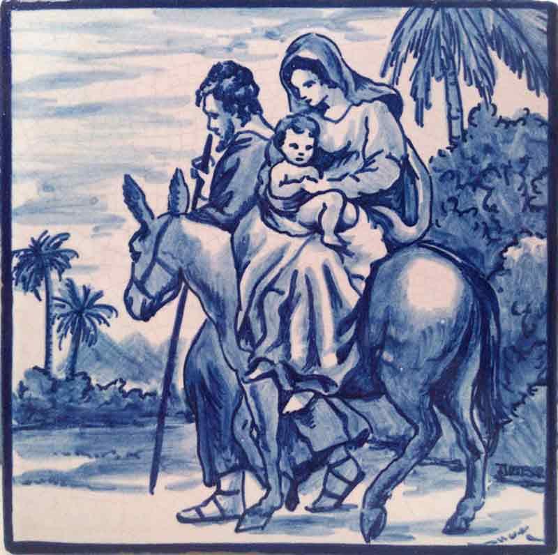 Azulejos sevillanos artesanos pintados a mano - Cerámicas Artesur - Escenas religiosas - 2