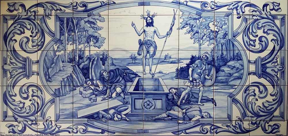 Mural con escena Resurrección