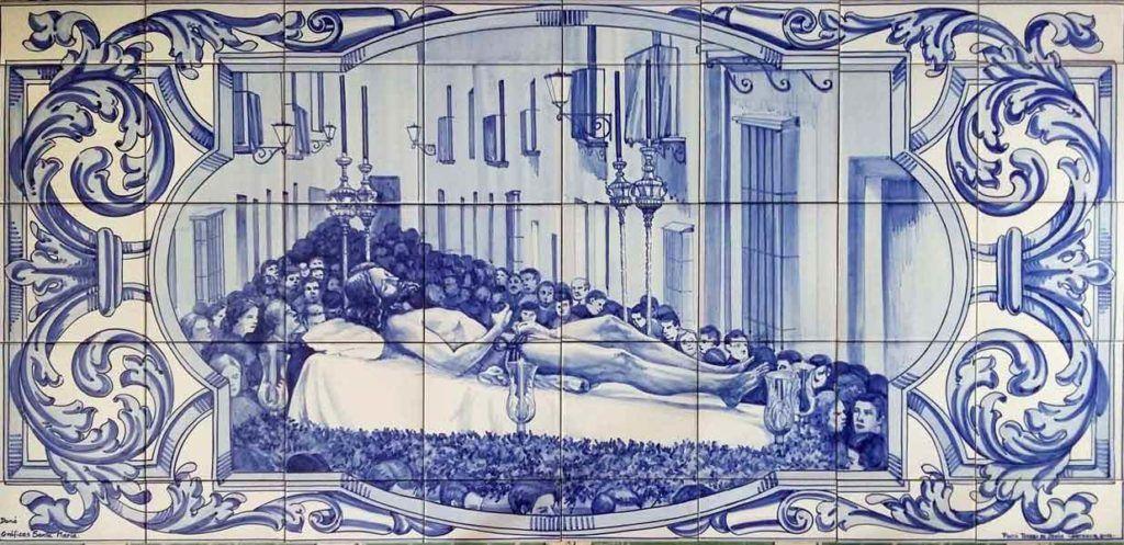 Azulejos sevillanos artesanos pintados a mano - Cerámicas Artesur - Escenas religiosas - 4