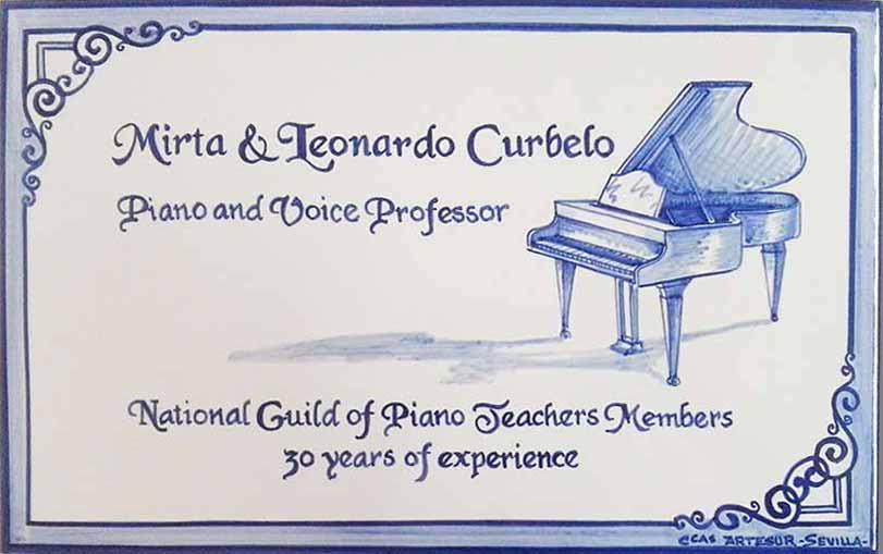 Azulejo  profesional con piano