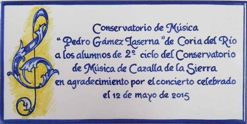 Azulejos sevillanos artesanos pintados a mano - Cerámicas Artesur - Conmemorativos - 6