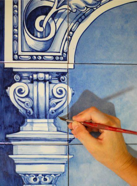 Azulejos sevillanos artesanos pintados a mano - Cerámicas Artesur - Así trabajamos