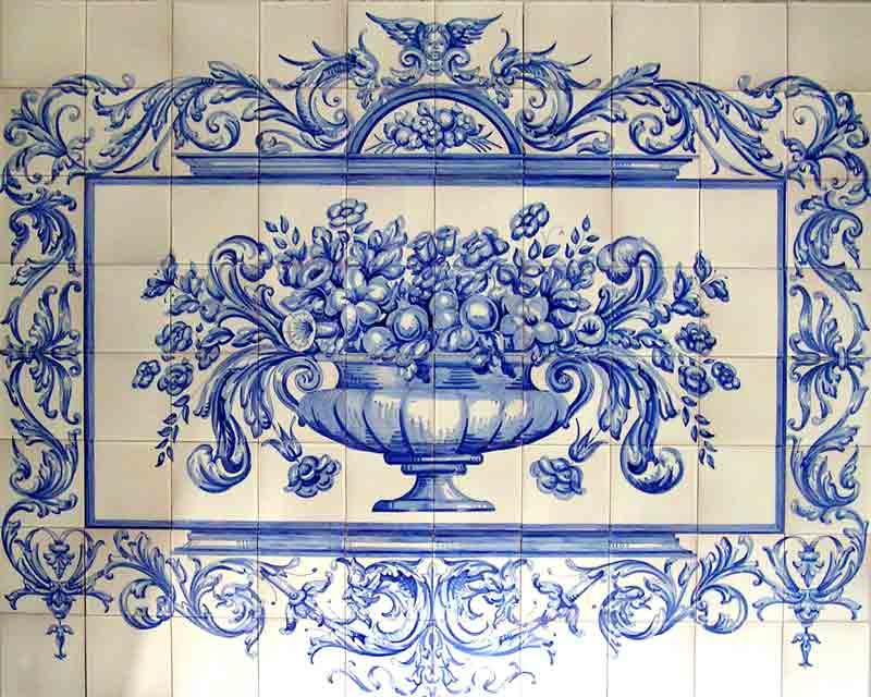 Azulejos sevillanos artesanos pintados a mano - Cerámicas Artesur - Florales - 4