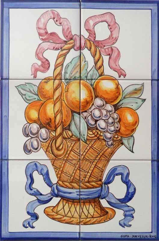 Azulejos sevillanos artesanos pintados a mano - Cerámicas Artesur - Florales - 8