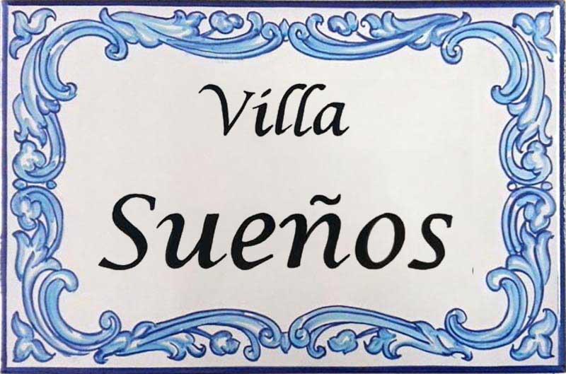 Azulejos artesanos pintados a mano en el estilo sevillano - Artesur - 605 - Azulejos para casas -605- Villa Sueños