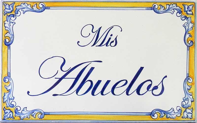 Azulejos artesanos pintados a mano en el estilo sevillano - Artesur - Azulejos para casas - Los abuelos 610