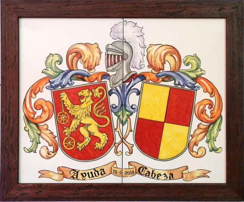 Azulejos de heráldica artesanos pintados a mano - Cerámicas Artesur - 3