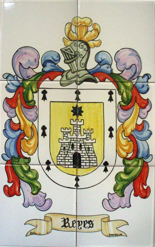Azulejos de heráldica artesanos pintados a mano - Cerámicas Artesur - 5