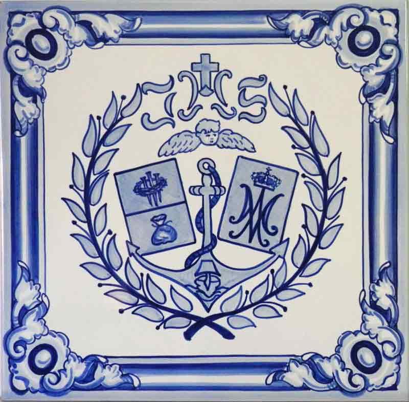 Escudo en azul cobalto