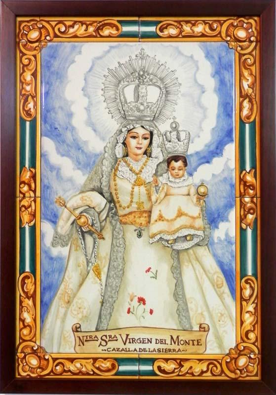 Azulejos sevillanos artesanos pintados a mano - Cerámicas Artesur - Virgen - 8