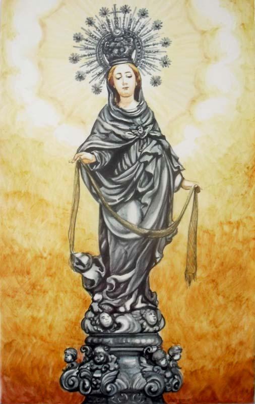 Azulejos sevillanos artesanos pintados a mano - Cerámicas Artesur - Virgen - 9