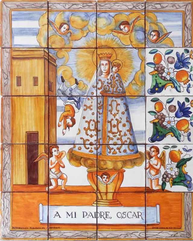 Azulejos sevillanos artesanos pintados a mano - Cerámicas Artesur - Reproducciones antiguas - 10