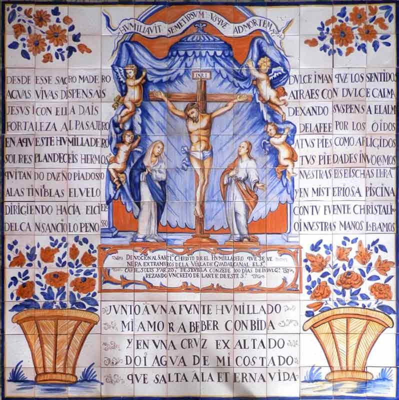Reproducción de retablo de Cristo s.xviii