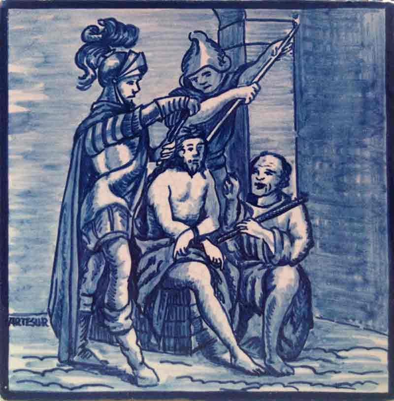 Azulejo Vía Crucis-2