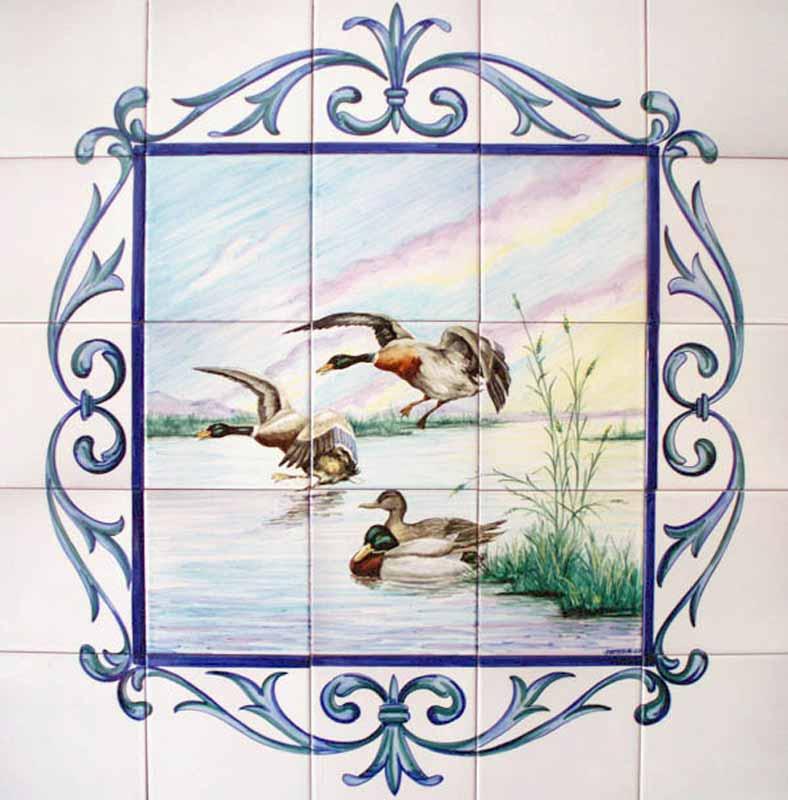 Azulejos sevillanos artesanos pintados a mano - Cerámicas Artesur - Animales - 1