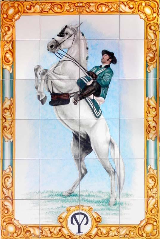 Azulejos sevillanos artesanos pintados a mano - Cerámicas Artesur - Animales - 12