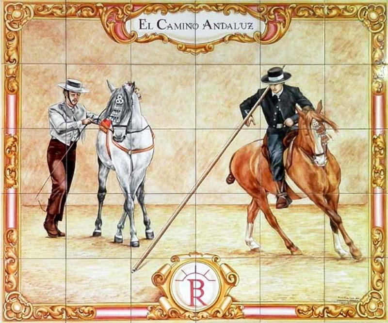 Mural con caballos andaluces