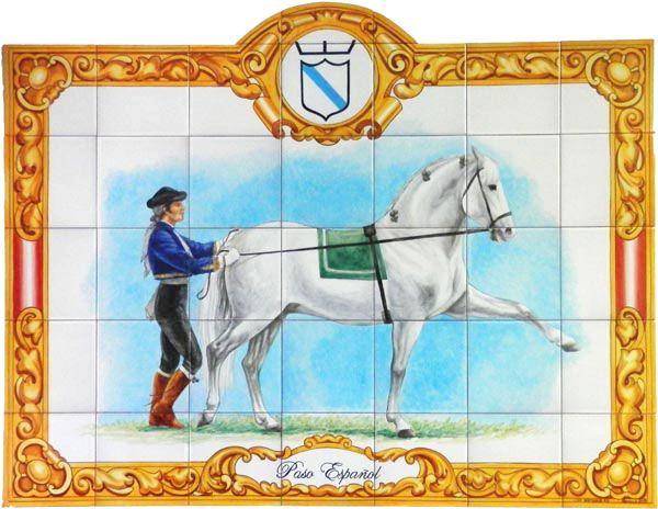 Mural con caballo doma andaluza