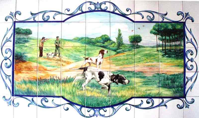 Azulejos sevillanos artesanos pintados a mano - Cerámicas Artesur - Animales - 2
