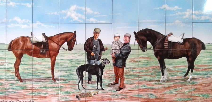 Azulejos sevillanos artesanos pintados a mano - Cerámicas Artesur - Caza