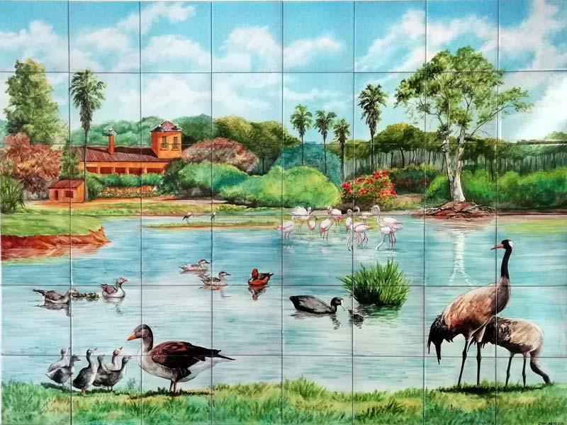 Azulejos sevillanos artesanos pintados a mano - Cerámicas Artesur - Animales - 6