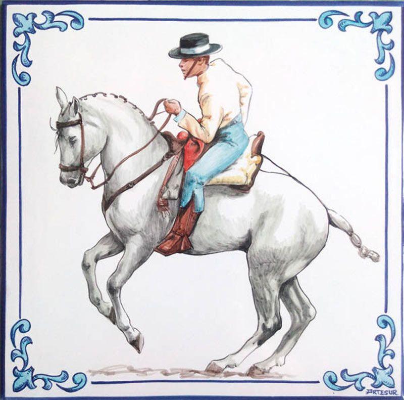 Azulejos sevillanos artesanos pintados a mano - Cerámicas Artesur - Animales 8