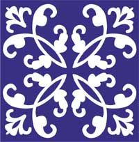 Azulejos sevillanos artesanos pintados a mano - Cerámicas Artesur - Icono azulejo-3